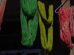 Yarn drying outside