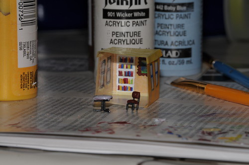 """Half Finished 1"""" Tracing Paper Cube House"""