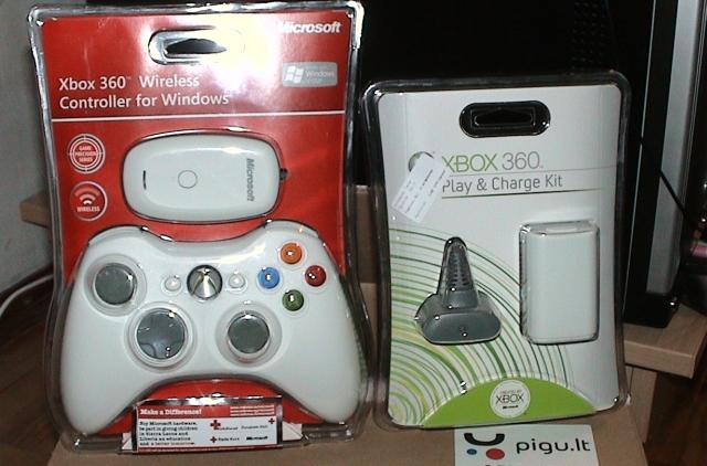 Microsoft xBox 360 gamepadas for Windows PC
