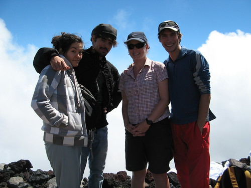 Ayumi, Paul, Tania and I atop Mt. Fuji