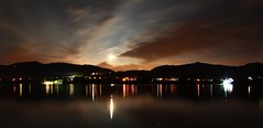 Wide Lago at Night (Michele Catania) Tags: summer italy lake holiday beach nature festival night canon river lago europe italia waves open estate wide treviso sigma1020mm revine canoneos400d lagodirevine michelecatania lagofilmfest revineallago