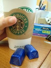 8:45 am (shelley1968) Tags: selfportrait coffee break chocolate starbucks coffeebreak slackingwhileworking thesefreakindarkchocolatecaramelsarekillingme