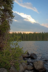 Bright Cloud (Zack Mensinger) Tags: camping lake water oregon waves nationalforest canon10d 2008 waldolake willamettenationalforest naturalareas lakesurface