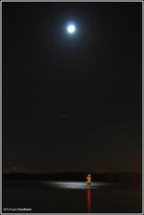 between the headlands, under the moonshine (sydnzm) Tags: longexposure seascape reflection nature lights nightshot outdoor naturallight slowshutter handheld jb johor