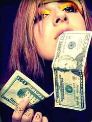 Greed (Dear Allison,) Tags: money girl ink self words dough makeup cash explore seven bucks sinner greedy greed sins deadly allisonwonderland