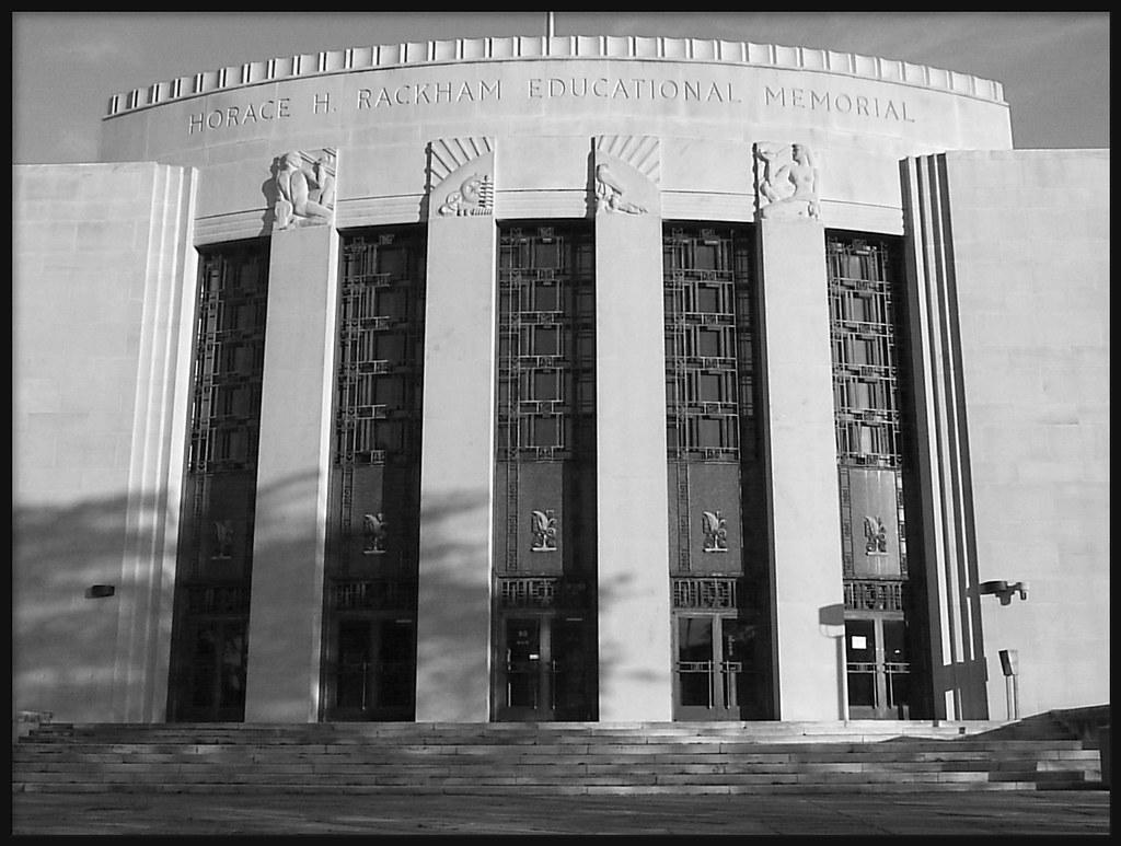 Horace H. Rackham Educational Memorial Building (B&W Version)--Detroit MI