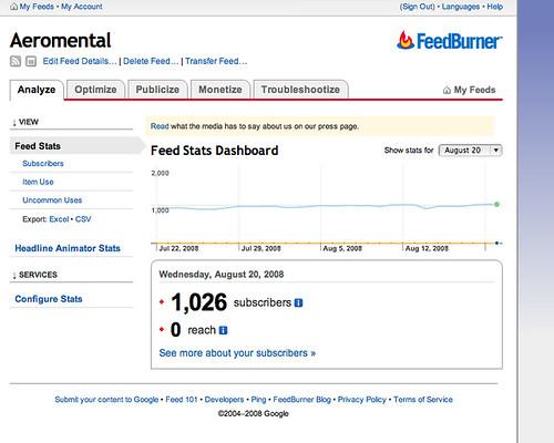 Thumb Al migrar de FeedBurner a Google pierdes Site Stats y lista de suscritos