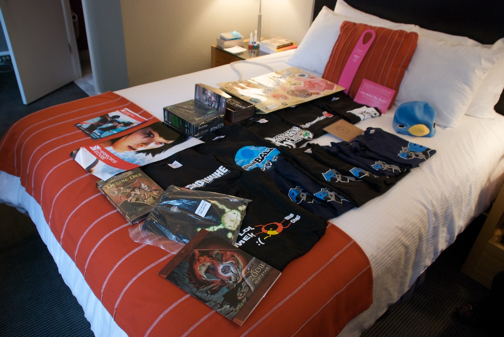 Pax 2008 Day 1's Merch and Swag
