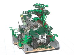 Laser on the chief: overall (Tekka Croe) Tags: africa lego halo east jungle warthog