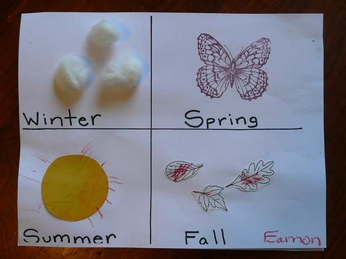 Toddler Craft - Four Seasons