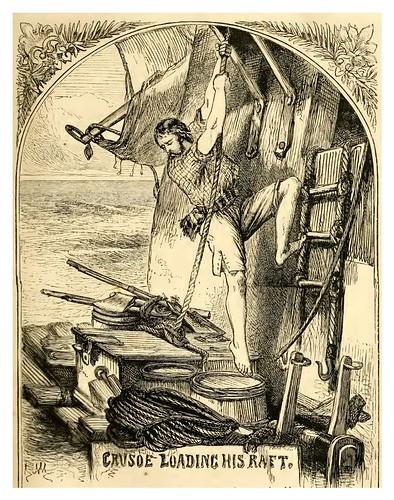 05- Crusoe cargando su balsa