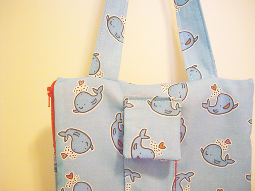 This is my bag I made with my Spoonflower fabric.
