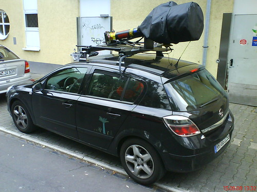 google streetview car in bonn