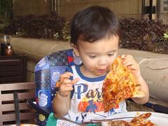 Benji chowing down