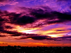 Purple Flames (just for fun ^^) Tags: pink blue sunset sky clouds lights purple flame malaysia stare kl soe chemical potofgold platinumphoto goldstaraward multimegashot