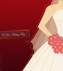 On Your Wedding Day (TaRaNeeM <3) Tags: flowers wedding red white photoshop design friend day dress card  saha  terter