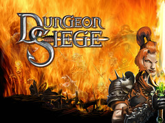 Dungeon Siege Wallpaper - farmgirl, flames behind her