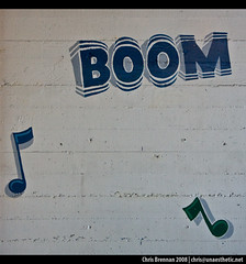 the ol' boom bap (unaesthetic) Tags: music signs sign wall hand notes painted bricks boom note signage walls 2008