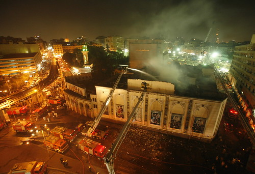 Egyption National Theatre, Cairo, Egypt. September 2008.  Electrical fire in air conditioning system.
