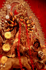 Maa Durga! (Confessions of the Confused Shooter) Tags: india statue festival religious model good religion culture evil hindu kolkata bengal puja durga bengali asura saptami colourartaward