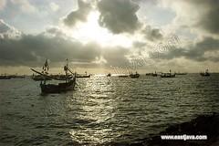 Muncar Sunset Of Banyuwangi East Java (www.eastjava.com) Tags: sea fish beach fisherman sailing sail seaport eastjava banyuwangi muncar transite auctionfish
