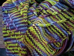 Spiral sock, STR heavyweight Fluorite