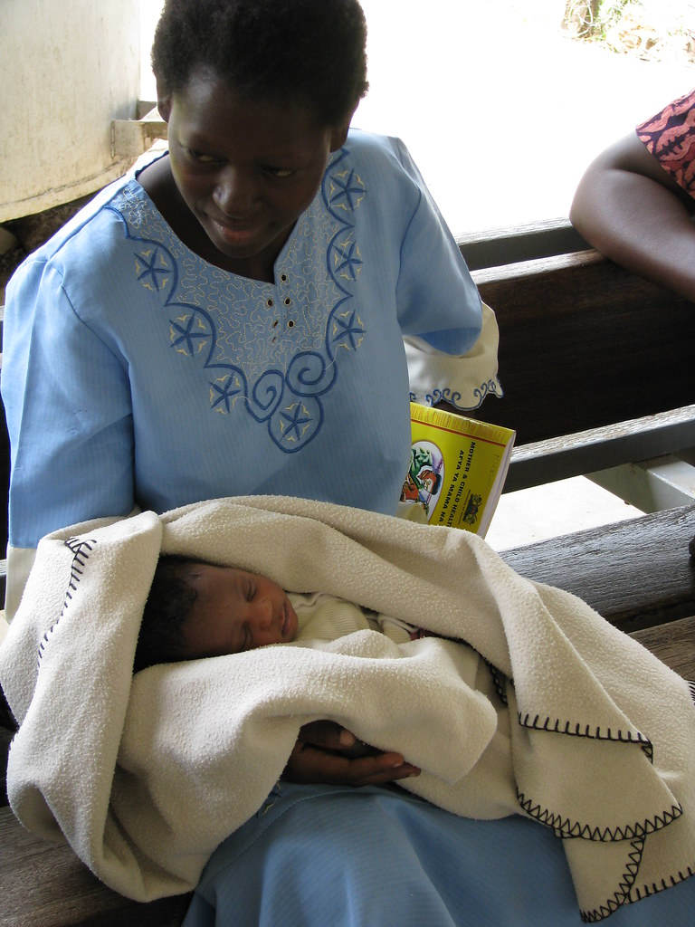 Newly born baby, named Michelle, after Michelle Obama, Sindo District Hospital, Nyanza, Kenya