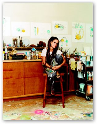 Nicole Buffett in Art Studio
