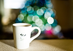 Good Morning (arkworld) Tags: christmas coffee lights nikon bokeh christmastree 50mmf14d bokehdots nikond3