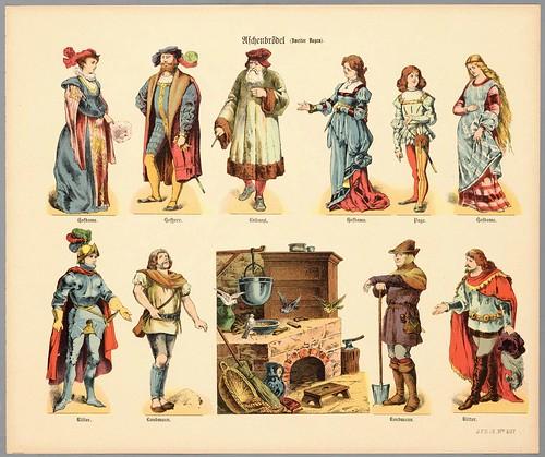 001- Litografia de propuesta de personajes de teatro 1878