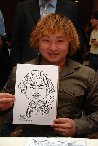 Caricature live sketching for Nippon Express Singapore Pte Ltd - 5