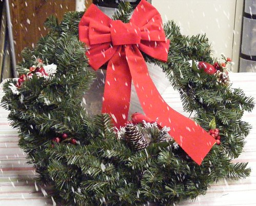 Wreath for cemetary w/special effects