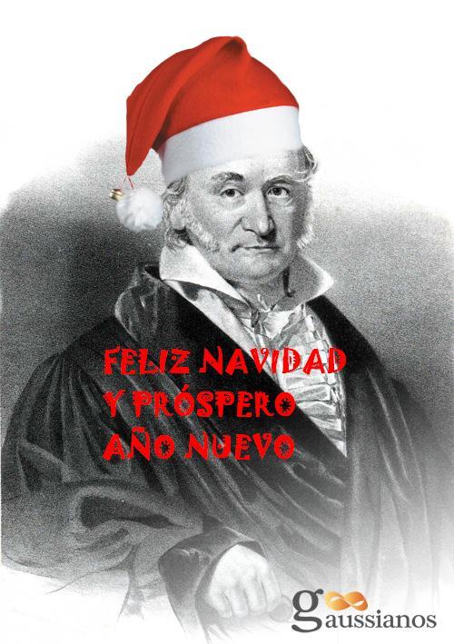 Gauss os desea Feliz Navidad