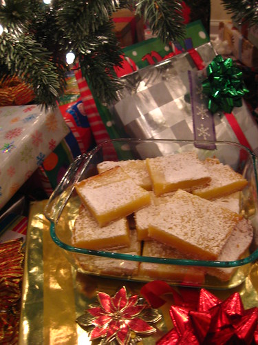 lemon bars under the tree