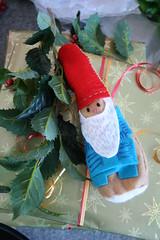 Hand stitched felt gnome