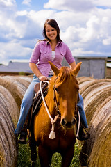 Country Girl (yeshayden) Tags: portrait horse girl barn riding haybales