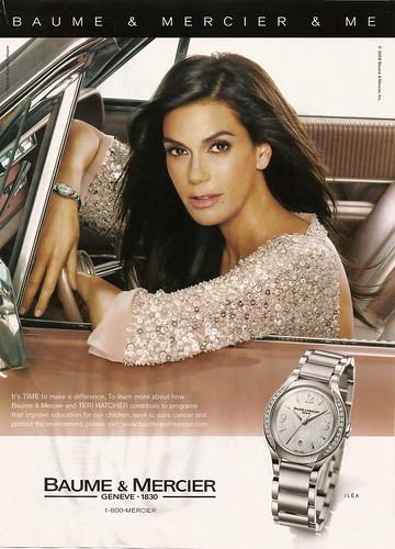 Teri Hatcher in Baume & Mercier watches ad