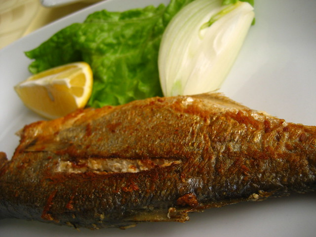 My delicious grilled seabass