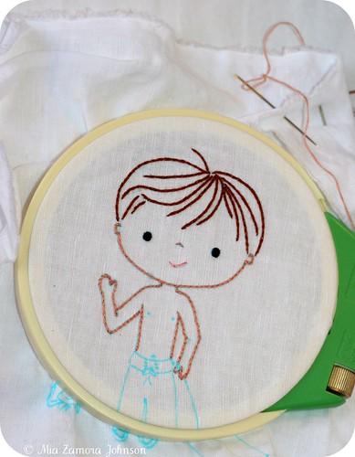 Embroidery beach boy