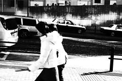 machida (chihilo) Tags: road street light shadow woman car japan wall lady taxi ombre  rue   japon slope   machida        bwartaward