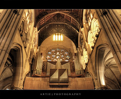 The Pipe Organs at St Mary's Cathedral, Sydney :: HDR (:: Artie | Photography ::) Tags: classic church architecture photoshop canon golden design sandstone cathedral cs2 tripod gothic sydney australia wideangle arches symmetry nsw newsouthwales 1020mm hdr organs stmarys artie stmaryscathedral stainedglasses 3xp pipeorgans sigmalens photomatix tonemapping tonemap 400d rebelxti