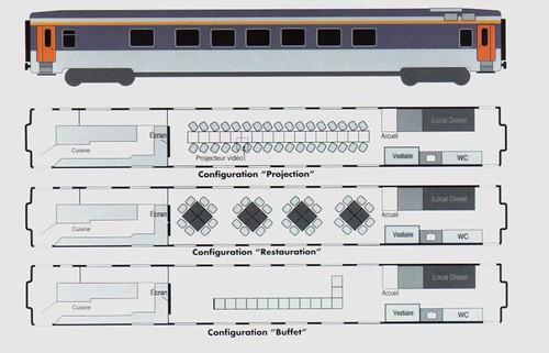 Train Chartering - French railways SNCF - Club34 plan