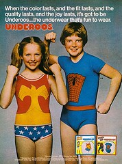 Remember Underoos? (MsBlueSky) Tags: ad spiderman advertisement wonderwoman superhero 1981 1980s underoos vintagead vintageadvertisement