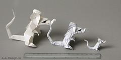 Origami Ratten (JuLi-Design) Tags: paper rat origami ratte papier ericjoisel