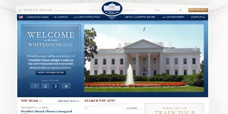 Whitehouse.gov homepage