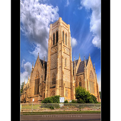 St Saviour's Cathedral, Goulburn :: HDR (:: Artie | Photography ::) Tags: heritage classic church architecture photoshop canon sandstone cathedral cs2 gothic australia wideangle arches structure historic nsw handheld newsouthwales 1020mm hdr xoxo artie 1839 stainedglasses goulburn motherchurch 3xp sigmalens photomatix tonemapping stsaviour tonemap 400d rebelxti stsaviourcathedral dioceseofcanberra kissesartie