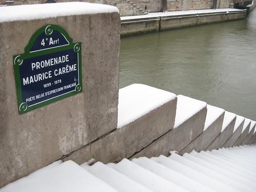 jour de neige sur Paris