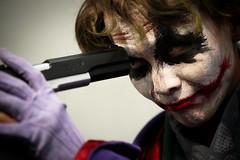 The Joker (DSLR_MANIA) Tags: costumes eos costume gun play cosplay suicide fake makeup korea exhibition wig seoul joker cosmetics southkorea 9mm gunpoint fakegun canonef100mmf28usm ef100mmf28usm atcenter eos1dmark3 canon1dmark3 dslrmania canon1deos1d colorlenses