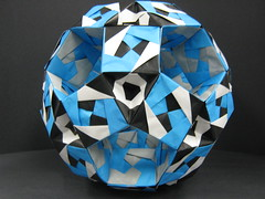 3) Sonobe Rhombicosidodechahedron (Modular Origami) (Origami Tatsujin 折り紙) Tags: art colors paper paperart origami geometry modular sonicboom fold create multicolored japaneseart papiroflexia module papercraft unit papercrafts polyhedra modularorigami おりがみ multidimensional 折り紙 sonobe geometricbeauty geometricart cooperativelearning colorfulart tetrahedralsymmetry analyticalgeometry origamitutorial modularorigamiorigami rhombicosidodechahedron mathematicsofpaperfolding mathematicsorigami origamitechniques