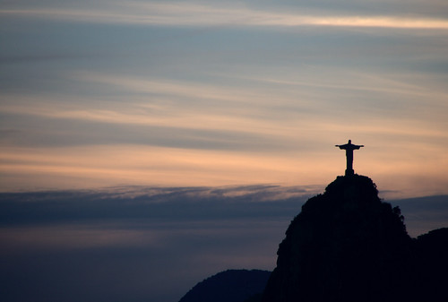 Christ Redeemer at sunset